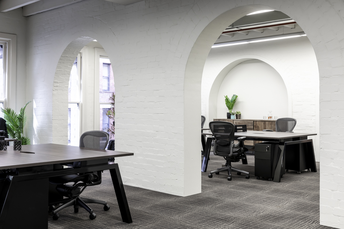 Stylish office fitout by Sydney interior designer.